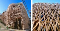 Kengo Kuma new building in Tokyo looks like an amazing wooden sculpture