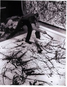 Jackson Pollock. Love his work. He was an amazing artist!