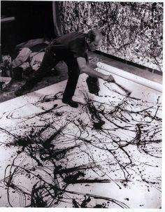 Jackson Pollock. Love his work. He was an amazing artist!