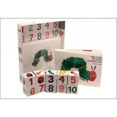 Lea, aprenda y juegue con The Very Hungry Caterpillar .Libro en tapa dura más bloques con los números, colores y las imágenes de los aliment...