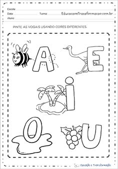 Fall Preschool Activities, Preschool Printables, Preschool Worksheets, Preschool Crafts, Learning Activities, Kids Learning, Toddler Activities, Nursery Worksheets, Alphabet Worksheets