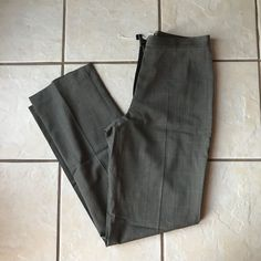 KORS Michael Kors NWOT Women's 100% Wool Brown Plaid Career Dress Pants 10 Italy #MichaelKors #DressPants #CareerDress