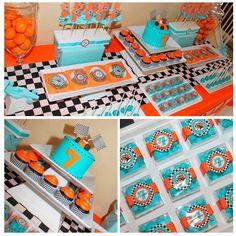 tema festinha infantil laranja e azul turquesa - Pesquisa Google