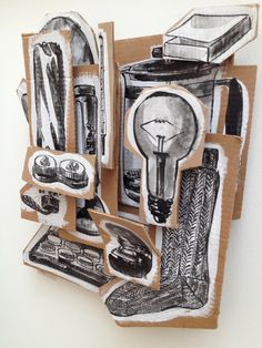 A black and white drawing a day...then Assemblage...