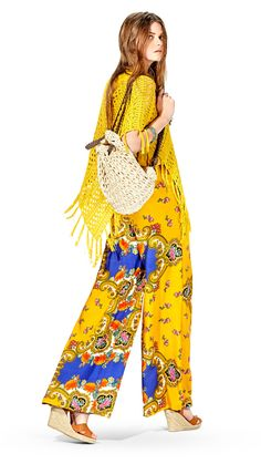 LANIDOR.COM - Shop Online Spring Summer 2016, Online Shopping, Trousers, Jumpsuit, Bohemian, Romantic, Elegant, How To Wear, Outfits