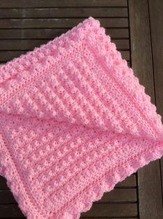 Crochet baby girl blanket. by CrochetOutre on Etsy