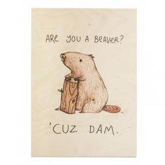 beaver, dam, wooden print, timbergram,