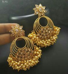 To buy please WhatsApp on 9703870603 South Indian Jewellery, Indian Jewelry, Jhumkas Earrings, Drop Earrings, Gold Jewellery Design, Gold Jewelry, Almirah Designs, Tikka Jewelry, Indian Style