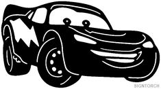 Lightening McQueen silhouette-maybe a freezer paper stencil t-shirt? {YES, I have the Cars Cricut cartridge, I can make Brett & Ian shirts! Disney Silhouette Art, Car Silhouette, Disney Silhouettes, Silhouette Vector, Silhouette Design, Disney Fantasy, Machine Silhouette Portrait, Stencils For Kids, Image Svg