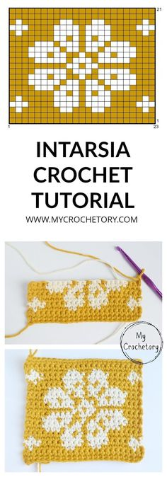 Beginner friendly step-by-step tutorial of intarsia crochet. crochet patterns How to do INTARSIA CROCHET - free tutorial for beginner Tapestry Crochet Patterns, Crochet Stitches Patterns, Crochet Patterns For Beginners, Crochet Chart, Knitting For Beginners, Knitting Stitches, Knit Crochet, Knitting Patterns, Crochet Double