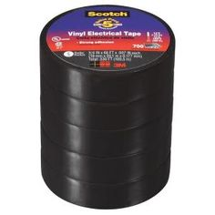 Scotch in. x 66 ft. 700 Vinyl Electrical Tape, Black 5 Rolls/Pk (Case of 6 Packs) Drop Cloth Curtains Outdoor, Outdoor Drapes, Porch Curtains, Outdoor Privacy, Backyard Privacy, Curtain Tie Backs Diy, Tiles Price, Electrical Tools, Scotch Tape