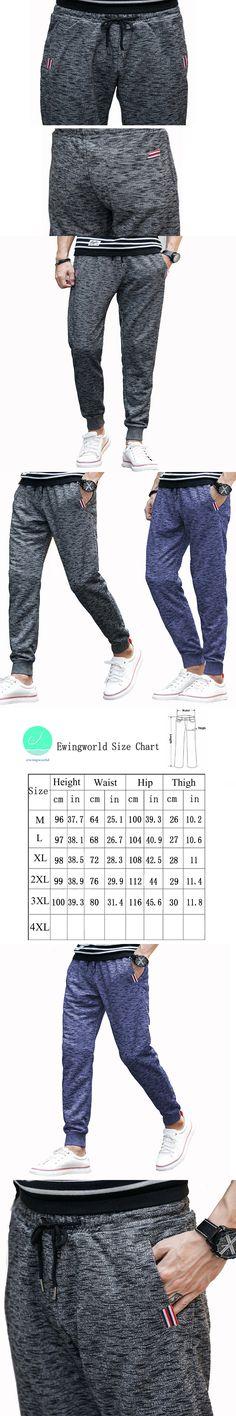 New 2017 Fashion Summer Spring Casual Loose Pencil Pants Men's Hemp Grey Color Mid Waist Full Length Drawsting Slim Pant CSS13