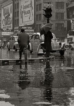 Out on a rainy day on Broadway in NYC. Walking In The Rain, Singing In The Rain, Rain Photography, Street Photography, I Love Rain, Rain Go Away, Rain Days, Rain Storm, Sound Of Rain
