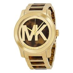 Michael Kors Runway Brown Dial Gold Tone Steel and Acetate Ladies Watch MK5788
