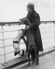 Rudolph Valentino and his doberman.