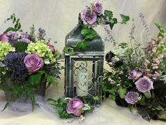 Centerpieces for garden wedding