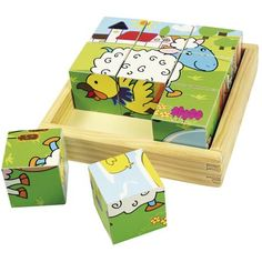 Buy our Wooden Farm Animal Cube Puzzle by Bigjigs available now at Mulberry Bush. Suitable for children aged 18 months+. Order now with Free Delivery over £75