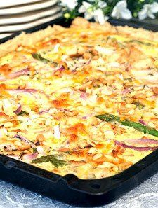 Kyllingpai i langpanne Low Carb Pizza, Cooking Recipes, Healthy Recipes, Recipe Boards, Pesto, Macaroni And Cheese, Chicken Recipes, Dinner Recipes, Food And Drink