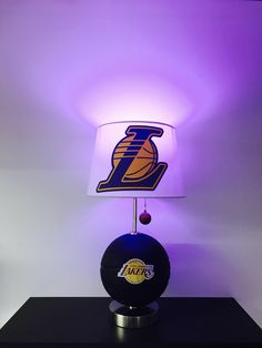 Los Angeles Lakers Lamp, LA Lakers lamp, Lakers light, basketball decor, NBA, NBA lamps, gifts for men, room decor,  man cave, Kobe Bryant, magic Johnson, Lakers, Lakers Decor, lamps, Father's Day, unique gifts, shaq, Los Angeles, CaliRado Art, custom lamps, handmade, Etsy, by CaliradoArt on Etsy https://www.etsy.com/listing/516111414/los-angeles-lakers-lamp-la-lakers-lamp