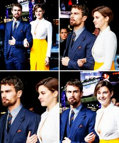 Theo James and Shailene Woodley at the Berlin premiere for 'Insurgent', 13/3/15.