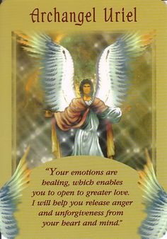 Archangel Uriel Angel Card Extended Description - Messages from Your Angels Oracle Cards by Doreen Virtue Doreen Virtue, Angels Among Us, San Uriel, Angel Protector, Archangel Prayers, Archangel Uriel Prayer, Archangel Jophiel, Angel Readings, Free Angel