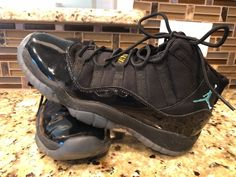reputable site 0c803 082cf Air Jordan 11 Retro Black Gamma Blue Varsity Maize Size 6 Youth-EUC  Condition is Pre-owned.