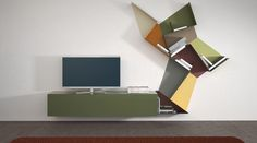 A bookshelf to be combined: three trapezoids, unexpected combinations. Find out all the available colours.