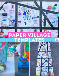 Paper Village Templates – Babble Dabble Do Paper Crafts For Kids, Crafts For Kids To Make, Diy Paper, Projects For Kids, Science Crafts, Science For Kids, Babble Dabble Do, Kids Origami, Printable Crafts
