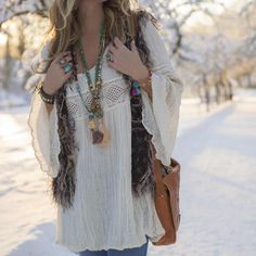 A little boho in the snow