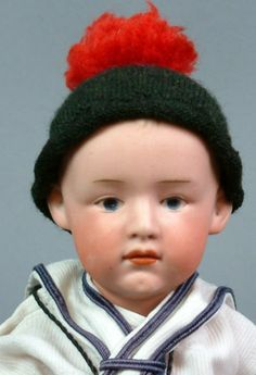"""9 5"""" Gebruder Heubach 7896 RARE Pouty German Character Child Antique Doll C1910   eBay"""