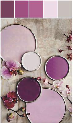 Beautiful shades of purple #colourpalettesilove