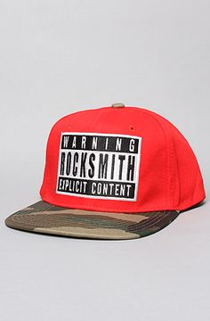 The Explicit Snapback Cap in Red by RockSmith 20% off with repcode FRESHYFRESH19 #Karmaloop
