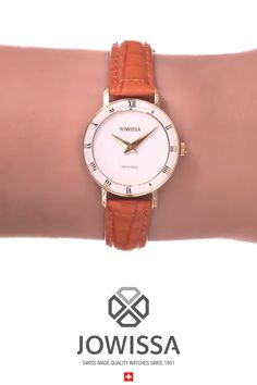 Find beautiful Swiss watches for women with minimalist, elegant styling right here at Jowissa. It's the perfect gift for her. Perfect Gift For Her, Gifts For Her, Ladies Watches, Roman Numerals, Elegant Woman, Cut Glass, Everyday Look, Modern Classic, Spice Things Up