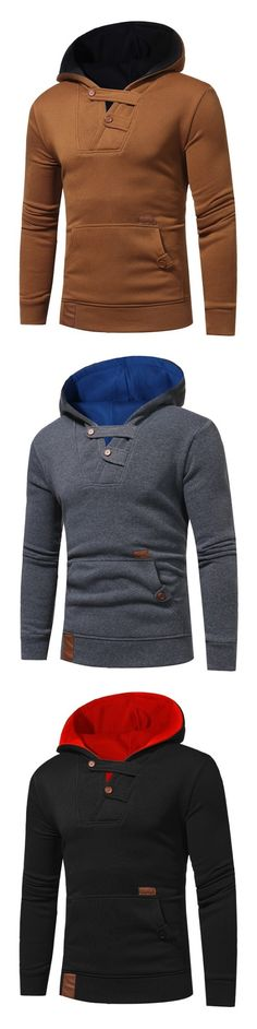 8e66cca4ada5 New Men Fashion Leisure Large Hoodie #Gamiss Mens Sweatshirts, Men's  Hoodies, Men Fashion