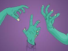 Zombie hands by João Luiz Wittkowski - Dribbble
