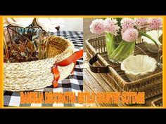 DIY cómo hacer una BANDEJA ESTILO FARMHOUSE / COUNTRY COTTAGE / El Blog De Nelu - YouTube Diy Y Manualidades, Estilo Boho, Picnic, Basket, Blog, Ideas, Jute, Easy Crafts, Trays