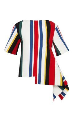 Multicolor Stripe Layered Hem Top by Marni for Preorder on Moda Operandi