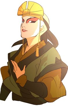 One of my fave Aang moments is where he wears Kiyoshi's clothes to prove her…