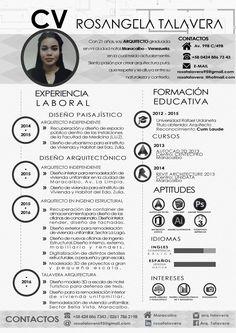Arquitecto - Curriculum Vitae Versión español, Venezuela. #architect #curriculum…