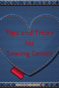 Learn how to sew denim with these tips. Free denim patterns, too!