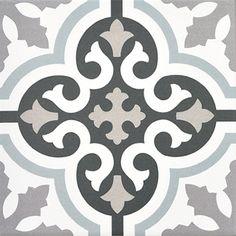 1 Sq Ft Vintage White Octagonal 4x4 Ceramic Tile Surplus