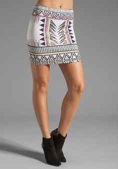 MINKPINK Techno Tribe Mini Skirt in Multi