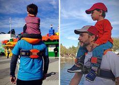 New Hot Hands-Free Shoulder Carrier Nylon Child Strap Rider for 2-5 Years Old Kids Baby Safest Kangaroo Wrap Sling Suspenders