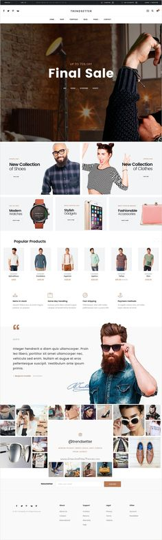 Trendsetter is an clean, modern and trendy bootstrap #HTML template for #webdesign multipurpose #eCommerce website with 2 homepage layouts download now➩ https://themeforest.net/item/trendsetter-ecommerce-html-template/18520725?ref=Datasata