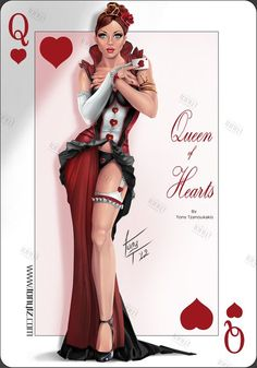 Queen of hearts pin-up Pin Up Girl Vintage, Vintage Pins, 1950 Pinup, Playing Cards Art, Vintage Playing Cards, Arte Pop, Nose Art, Pin Up Art, Pin Up Style