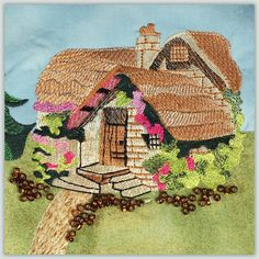 Ching Chou's Little Red Riding Hood Wool Embroidery, Embroidery Stitches, Embroidery Patterns, Needlepoint Stitches, Needlework, Cross Stitch Pictures, Sewing Appliques, Red Riding Hood, Rococo