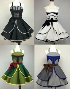 Custom star wars aprons.