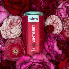 Kikoko's Sensuali-tea is a perfect party pairing. It engages your guests, gives them the giggles, and relaxes them into deeper conversations. Our favorite Par-tea Fire And Desire, Organic Roses, Perfect Party, High Tea, Red Bull, Pain Relief, Cannabis, Tea Party, Wellness