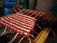 Make a loom out of a picture frame!