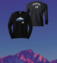 Highest Potential Longsleeve on Black   #Highest #Potential #HighestPotential #Hoodie #Tee #Tshirt #Crewneck #Longsleeve #Utah #Mountains #2014 #MensFashion #Fashion #WomensFashion #Style #Jazz #UtahJazz #Motivation